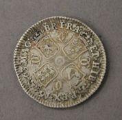 A 1663 Charles II shilling
