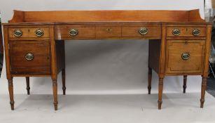 A 19th century mahogany sideboard. 205 cm wide.