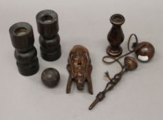 A collection of various treen items.
