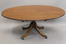 A 19th century mahogany tilt top Breakfast table. 166 cm long.