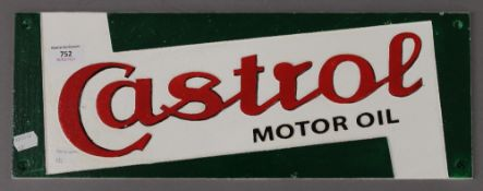 A Castrol sign. 49 cm wide.