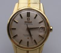 An 18 ct gold gentleman's Omega Constellation Automatic Chronometer wristwatch. 3.5 cm wide. 97.