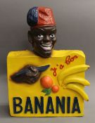 A French Banania advertising model. 58 cm high.