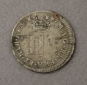 A 1687 Maundy three pence