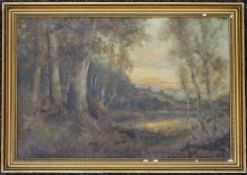 A 19th century Woodland Scene, oil on canvas, framed. 60 x 40 cm.