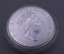 A 2020 silver Britannia coin