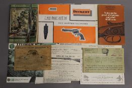 A collection of gun catalogues, etc.