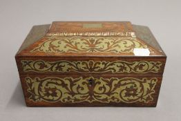 A Regency brass inlaid box. 23.5 cm wide.