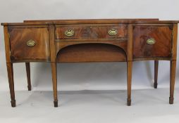 WITHDRAWN A 19th century mahogany sideboard. 183 cm wide.