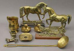 A small quantity of brassware