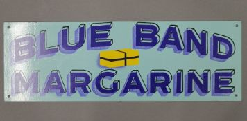 A Blue Band Margarine advertising sign. 45.5 cm long.