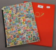 Two stamp albums