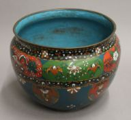 A 19th century Chinese cloisonne jardiniere. 22.5 cm high.