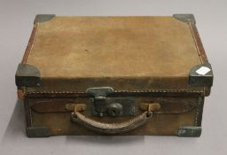 A Victorian brass cornered cartridge case. 33 cm wide.