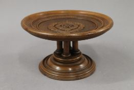A George V Royal Engineers wooden comport. 12.5 cm high.