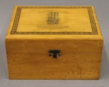 A Victorian homeopathic medicines box. 18.5 cm wide.