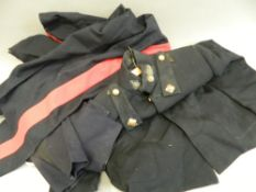 A Royal Artillery dress jacket, two pairs of Cavalry No.