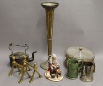 A quantity of miscellaneous items, including ceiling lights, stands, etc.