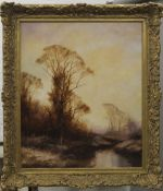 JOHN TRICKETT ( born 1952) British, Game Shooting, oil on canvas, framed. 49.5 x 59.5 cm.
