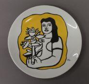 FERNAND LEGER, designed plate from F LEGER Dedicated Museum. 24 cm diameter.