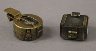 Two compasses