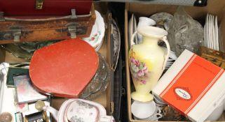 A large quantity of various ceramics, glass, etc.