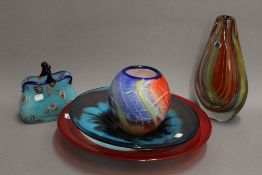 A collection of various Murano glassware, etc. The largest 31 cm high.