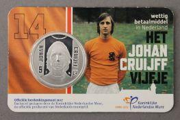 JOHAN CRUIJFF 5 euro silver coin