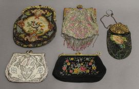 A quantity of various evening bags.