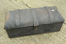 A Georgian Blacksmith made iron strong box.