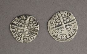 Two Edward I or II pennies