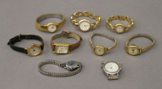 A quantity of ladies wristwatches