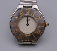 A Must De Cartier wristwatch. 3.75 cm wide.