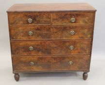 A 19th century mahogany chest of drawers. 108 cm wide.