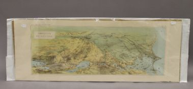 A Birds Eye View of The Suez Canal, print,