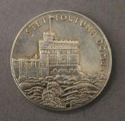 A silver Jubilee medal