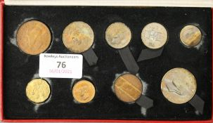 A 1950 proof coin set.