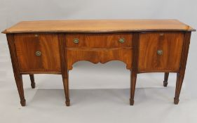 A modern 19th century style mahogany sideboard. 198 cm wide.