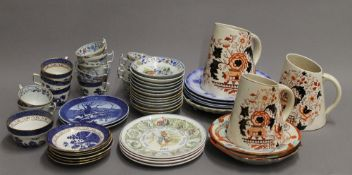 A quantity of various ceramics, including Royal Copenhagen.