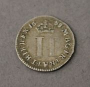 A James II 1688 two pence