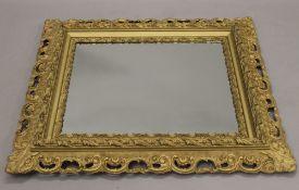 A late 19th century gilt framed mirror. 77 x 90 cm.