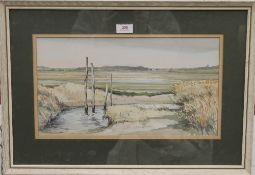 JASON PARTNER (1922-2005) British, Cley Norfolk, watercolour, signed, framed and glazed. 42.5 x 23.