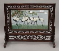A Japanese table screen. 52.5 cm wide, 46 cm high.