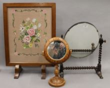 An early 20th century barley twist mirror,
