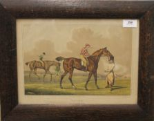 HENRY ALKEN, coloured Racing engraving from Newmarket Heath, framed and glazed. 34 x 24.5 cm.