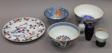 A small quantity of Oriental ceramics