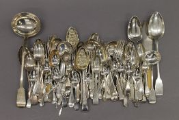 A large quantity of silver flatware. 148 troy ounces.