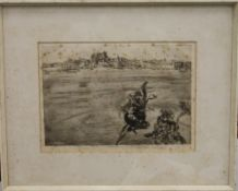 JOHN COPLEY (1875-1950) British, Palma Mallorca, print, signed in pencil to margin,