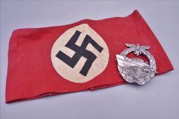 A Nazi badge and arm band