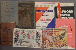 A manuscript notebook on military guns,